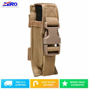 Tan-Single-Pistol-Double-Stack-Magazine-Clip-Pouch-MOLLE-Gear-PALS-Belt-PVC