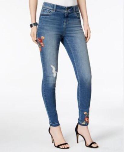 Jeans Taglia 10 International skinny gamba con Inc Donna 732994499071 Concepts Denim ricamati qgA8Hft