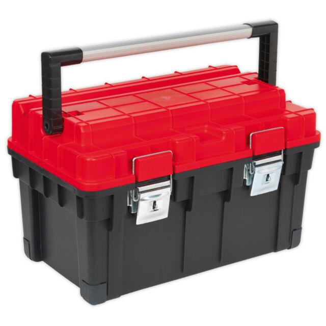 Sealey AP1113 Toolbox With Tote Tray 595mm Store Storage Workshop Garage DIY
