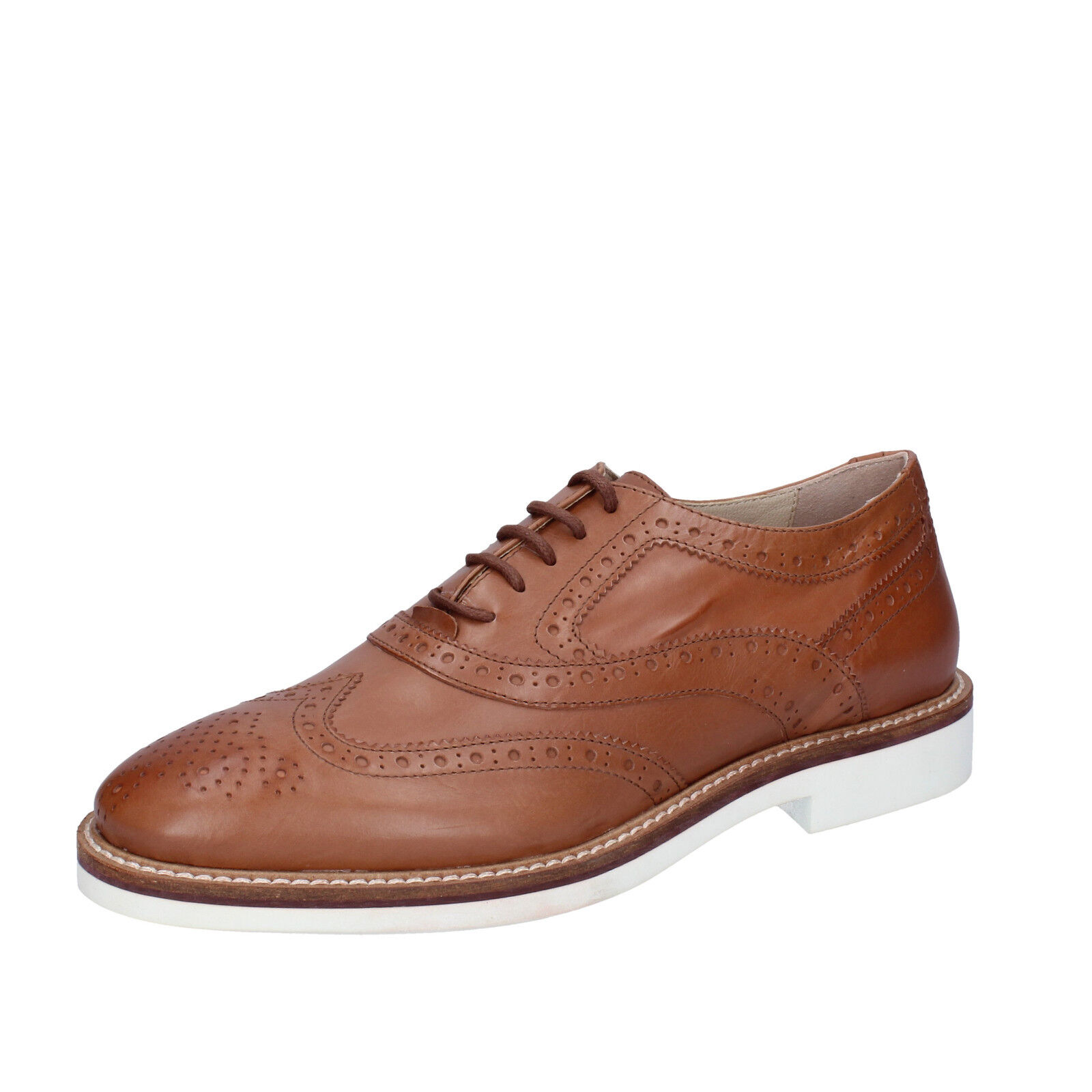 Men's shoes K852 & SON 9 (EU 42) elegant brown leather BT923-42