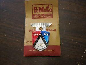 Nos Oem Ford 1955 Fairlane Trunk Ornament Emblem Plastic
