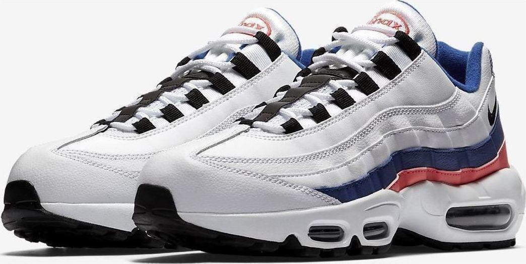a2b5e1febc NIKE AIR MAX 95 ESSENTIAL 106 WHITE SOLAR RED ULTRAMARINE blueE 749766  BLACK nwirln1979-Athletic Shoes