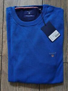 Gant  Stretch Cotton Pullover Gr.L Blue Shirt пуловер Sweater