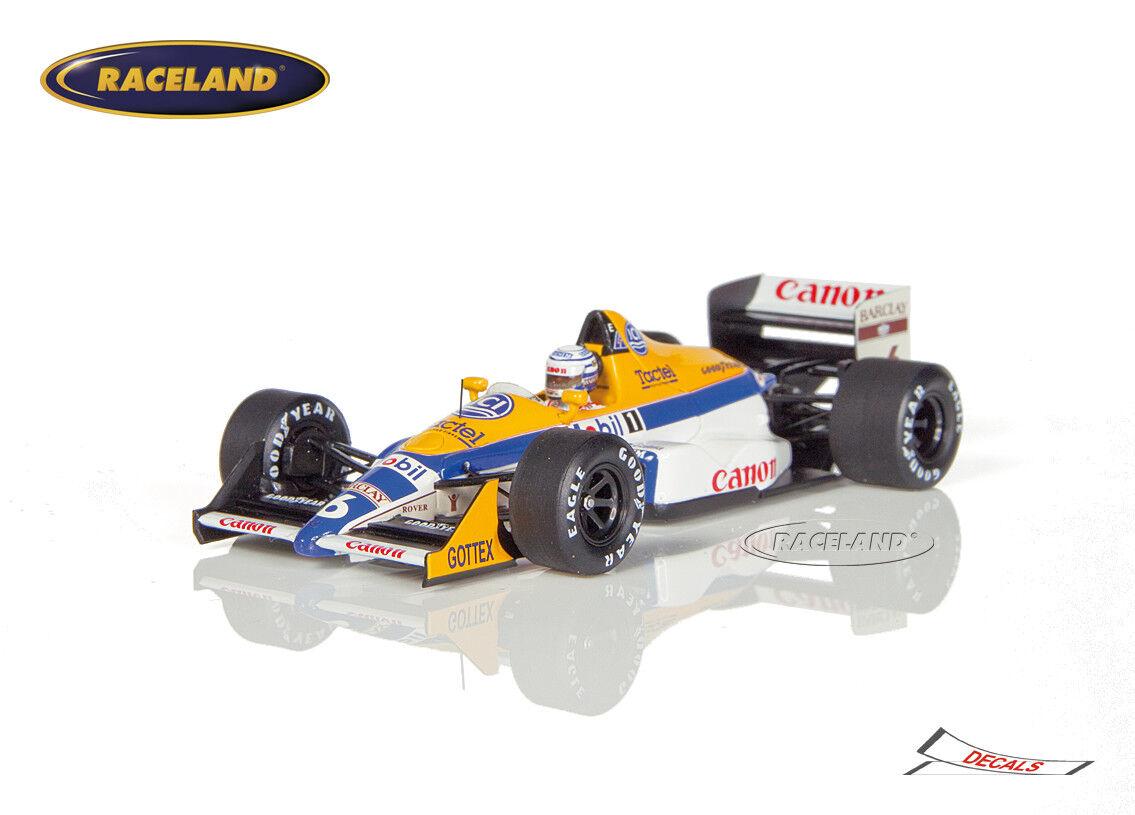 Williams fw12 Judd v8 canon f1 6 ° gp monaco 1988 Riccardo Patrese, Spark 1 43