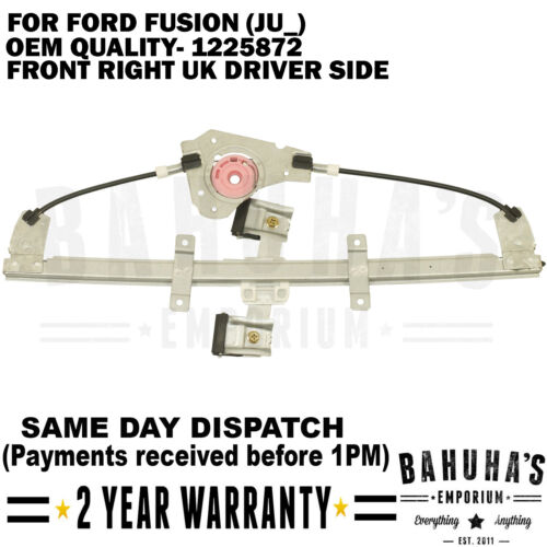 WINDOW REGULATOR FOR FORD FUSION JU/_ ESTATE 02-12 FRONT RIGHT SIDE W//OUT MOTOR