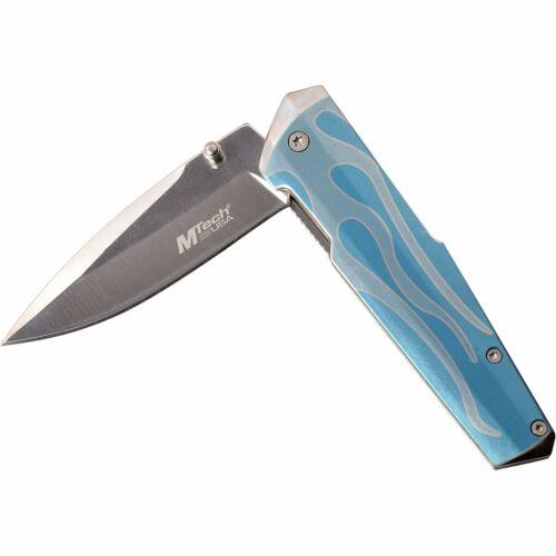 Details about  /Spring-Assist Folding KnifeMtech Blue Fire Tactical Folder Women/'s MT-A1185BL