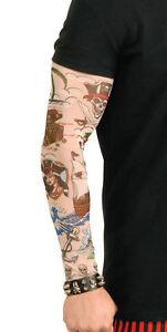 Adulte-Taille-Unique-Pirate-Motifs-Tatouage-Manche-pour-Accessoire-Deguisement