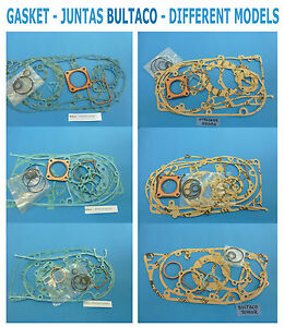 BULTACO-GASKET-JUNTAS-DIFFERENT-MODELS-ORIGINAL-PARTS-BRAND-NEW