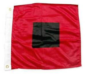 HURRICANE-WARNING-FLAG-18-034-x18-034-Sewn-Applique-NYLON-Miami-Hurricanes-Made-in-USA
