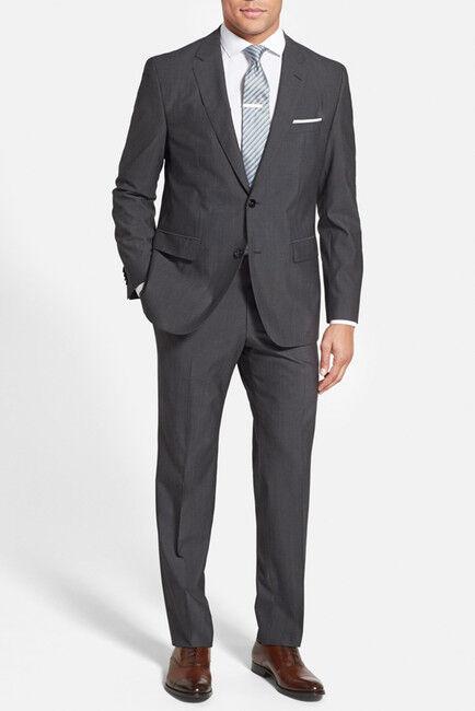 Hugo Boss Anzug Huge1  Genius1 Trim Fit Wool Suit Neu mit Etikett Größe 90   | Die Farbe ist sehr auffällig  | Bekannt für seine schöne Qualität  | Niedriger Preis und gute Qualität