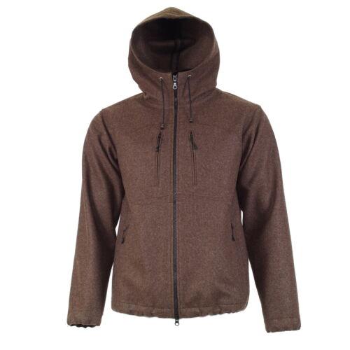 Kapuzenjacke REUTTE Hoodie aus Loden Jacke mit Kapuze Wandern Outdoor Freizeit