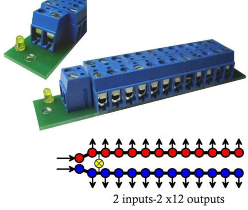 1 Set Power Distribution Board With Status LEDs for DC and AC Voltage Everest