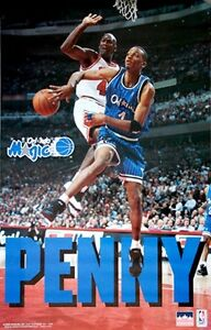 huge discount db19f 003af Image is loading 1995-Penny-Hardaway-vs-Michael-Jordan-Orlando-Magic-