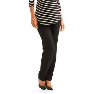 18da0dcc37f06e Oh! Mamma Maternity Full-Panel Straight Leg Career Pants Size Medium ...