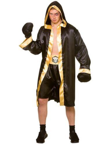 Costume adulto Knockout Boxer /& Guanti Costume Sport da combattimento da uomo CHAMPION