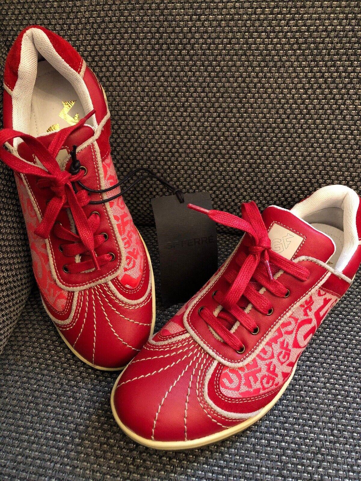 Original gf Ferre cortos zapatos 38 rojo logotipo nuevo nuevo nuevo NP  artículos de promoción