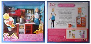 Barbie-cuoca-in-cucina-mobili-forno-gas-pentole-spaghetti-originale-Mattel-DMC36