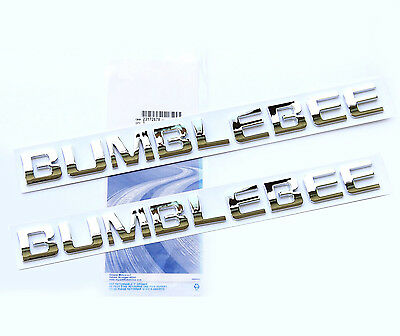 2x Red OEM BUMBLEBEE Nameplate Emblem Badge for Camaro GM Silverado Ford f YU