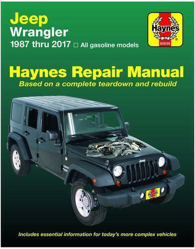1987-2017 Haynes Manuel de réparation Jeep Wrangler Bj