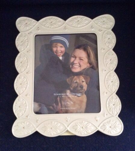 "Lenox SUNBURST Ivory China Photo Picture Frame 8/""×10/"" New In Box PERFECT"