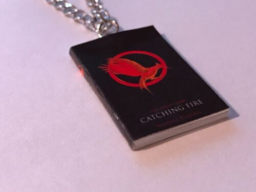 Choose From All 3 Books Handmade Miniature Hunger Games Book Pendant Necklace