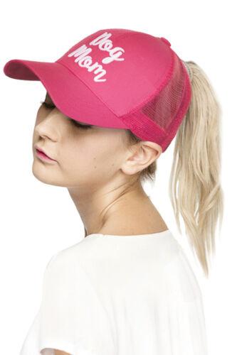 Jinscloset C.C Dog Mom Color Change Ponytail Cap Messy Buns Baseball cap