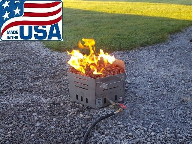 Stainless Steel Portable Propane Fire Pit Bowl 16 Hexagon Made In Usa For Sale Online Ebay
