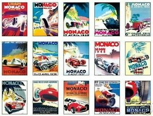 Monaco-F1-Grand-Prix-Early-Posters-Trading-Card-Set