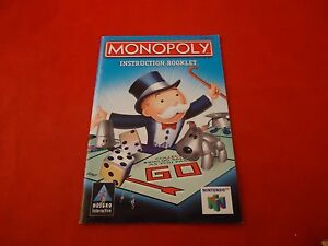 monopoly nintendo 64 n64 instruction manual booklet only ebay rh ebay com Instruction Manual n64 instruction manual pdf