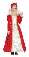FANCY DRESS GIRLS RED PRINCESS TUDOR/ELIZABETHAN/EDWARDIAN PRINCESS