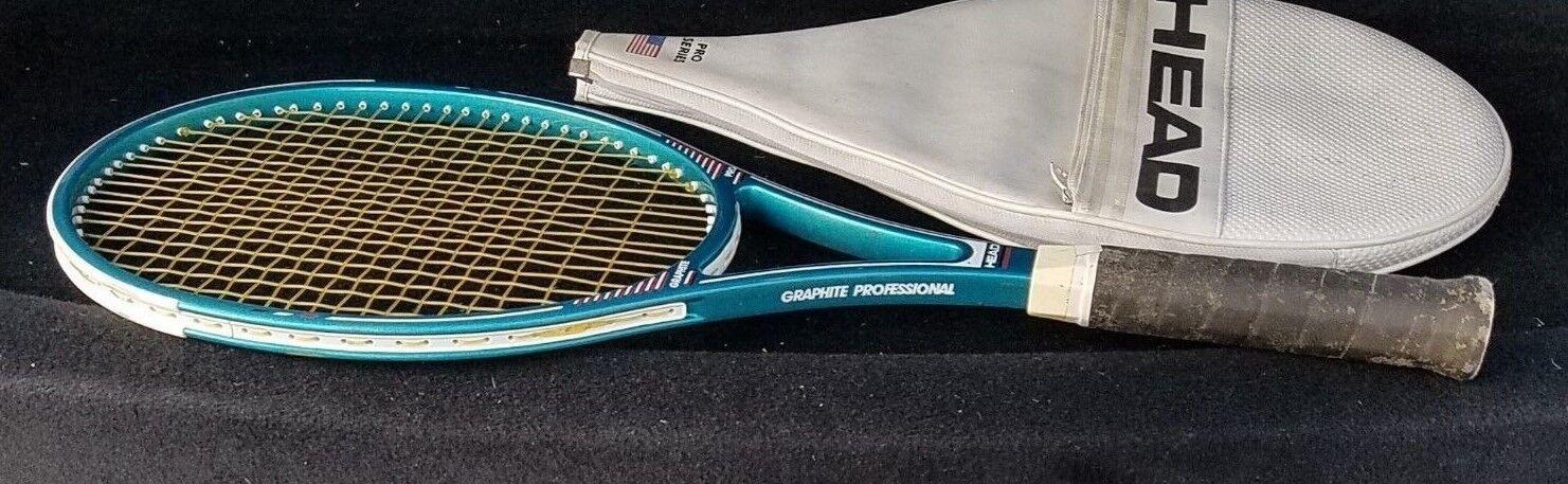 Cabeza De Grafito Pro 89.5 pulgadas cuadradas Raqueta De Tenis Grip  4 5 8 Muy Bueno