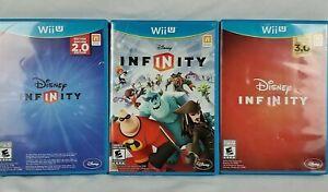 DISNEY-INFINITY-2-0-3-0-Editions-NINTENDO-Wii-U-3-Wii-Game-Lot-Family-Fun