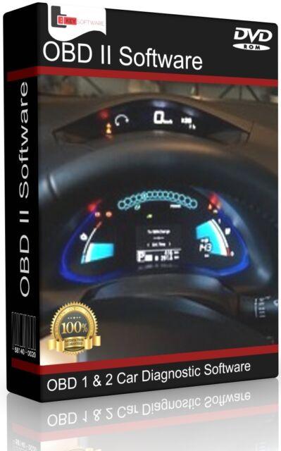 Obd1 & Obd2 Car Diagnostic Software Scanner Tool ECU BHP Tuning OBDII Elm327