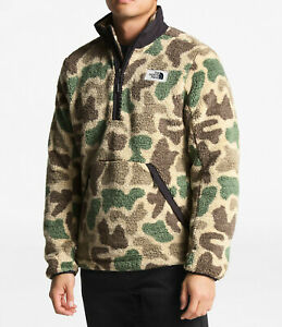 New-Mens-The-North-Face-Pullover-Campshire-Sherpa-Fleece-Jacket-Coat-Top