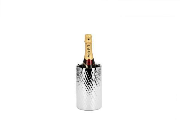 Bottiglie in acciaio inox radiatore H 20 cm x D 12 cm, Nuovo