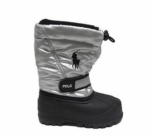 Polo Infants Toddlers WHISTLER SILVER Winter Snow Boots Silver//Black 95281I a1