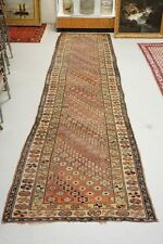 ANTIQUE HAND MADE ORIENTAL RUNNER MEASURING 13 FT 5 INCHES X 3 FT 9 ... Lot 1309