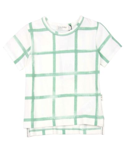 MILES BABY Boys Distressed Check T-shirt Sizes 6M-4