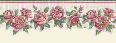 Die Cut ROSES FLORAL Wallpaper Border GH74112DC