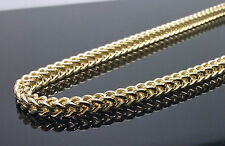"""10K Yellow Gold Men's Franco Chain With Diamond Cuts 4.5mm 30"""" A36B4 Rope, Cuben"""