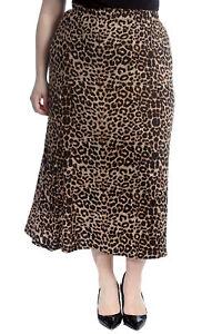 Sammlung Hier Neue Frauen Übergröße Rock Damen Tier Leopard Druck Elastisch Taille Lang Maxi So Effektiv Wie Eine Fee