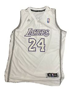 Details about Kobe Bryant Los Angeles Lakers Adidas White Christmas Swingman Jersey Mens 2XL