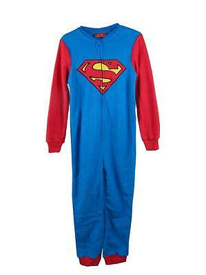 J11 Size 2 3 4 5 6 7 8 9 10 Boy's Superman Onesie Pajamas PJs  Blanket Sleepsuit