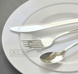 Bulk Wedding Plastic Disposable White Plates And Cutlery