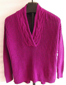 Grape Sweater størrelse Pl Collar savner Lilla Nwt Ralph 888572447818 Cotton Lauren w8gWqY