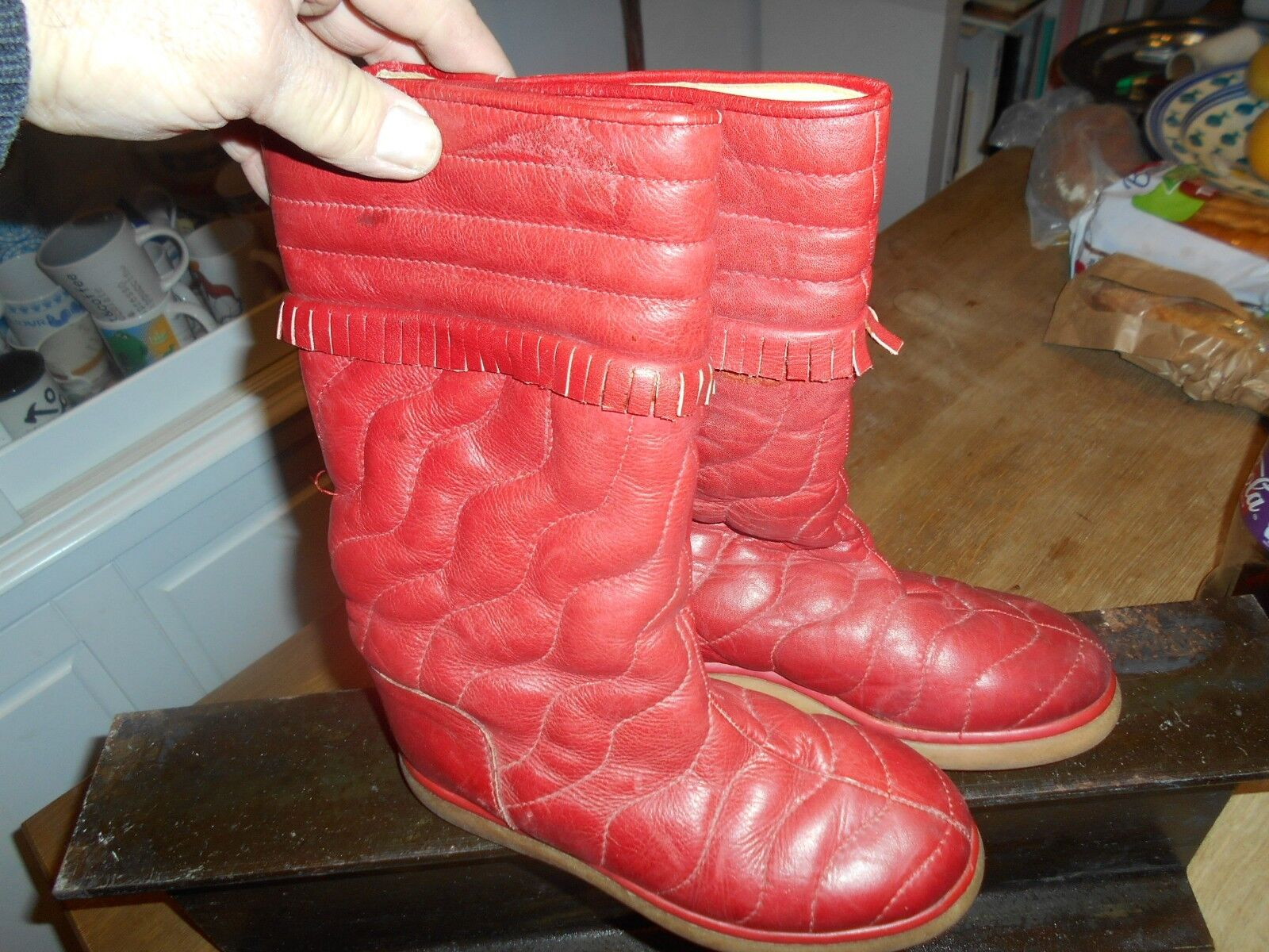 BOTTES red MINELLI  VINTAGE COLLECTOR T 35 A  ACH IMM FP RED MOND RELAY TOP