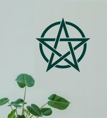 Pentagram Pentangle Symbol Wall Art Matt Vinyl Sticker Cupboard Laptop Decal