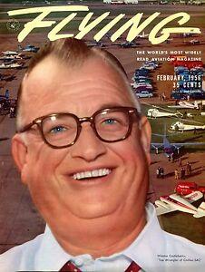 Flying Magazine February 1956 Winston Castleberry EX No ML 120716jhe