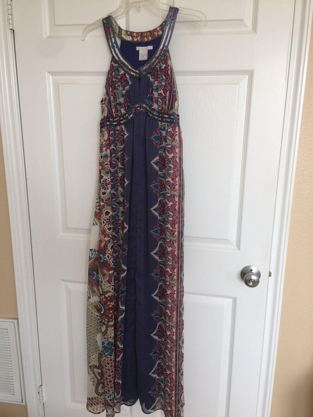 Women boho sleveless full lenght dress - image 3