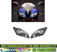 kit adesivi stickers compatibili yzf  r6 fanali fari head light 2008 2015